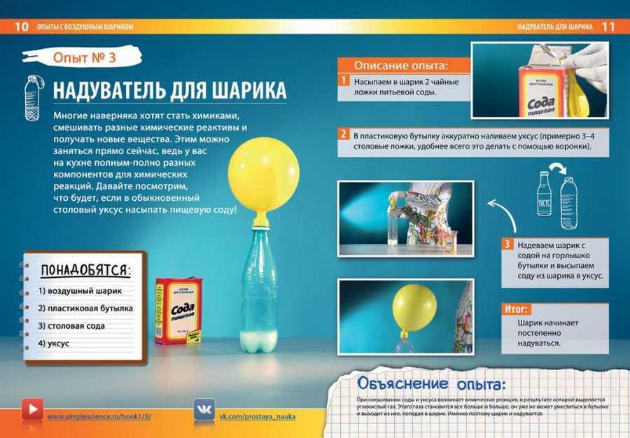 Опыты в домашних условиях с шариком