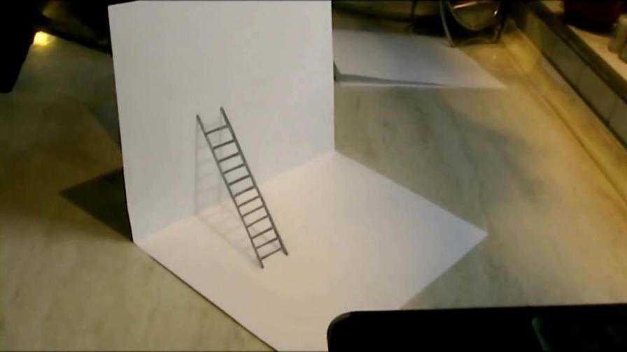 3D рисунок на бумаге карандашом. |