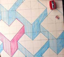 373925 Как нарисовать 3д (3d) рисунок на бумаге карандашом