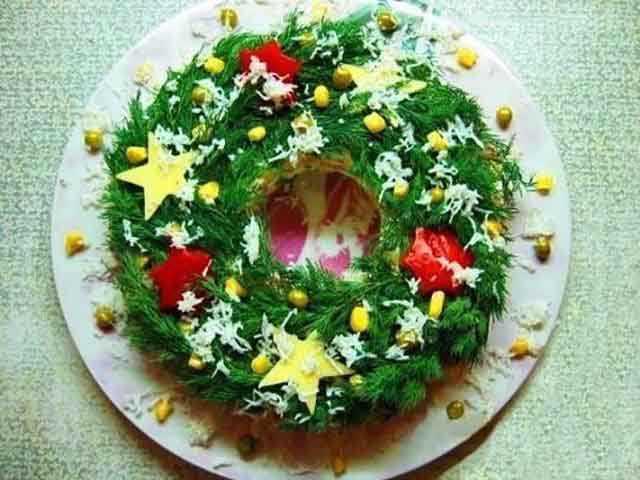 новогодний салат рецепт фото